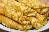 Blintzes (cheese pancakes) — Stock Photo