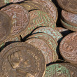 Collection of antique coins — Stockfoto