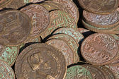 Collection of antique coins — Stock Photo