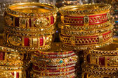 Colorful indian bangles — Stock Photo
