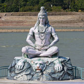 Shiva statue in Rishikesh, India — Stok fotoğraf