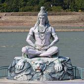 湿婆神雕像在瑞诗凯诗,印度 — 图库照片