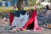 Armen gegend in haridwar, indien — Stockfoto