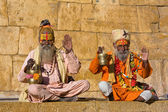 Indická sadhu (svatý muž) — Stock fotografie