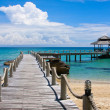 Wooden pier, Thailand. - Stock Photo