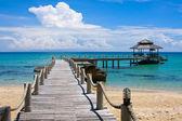 Houten pier, thailand. — Stockfoto