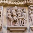 Temples of Khajuraho, famous for their erotic sculptures — Zdjęcie stockowe #17171457