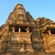 Temples of Khajuraho, famous for their erotic sculptures — Stockfoto #17370317