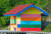 Varicolored house — Stock Photo
