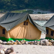 Camp at Ganges river — Stock Photo