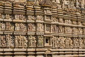 Temples of Khajuraho, famous for their erotic sculptures — Stock Photo