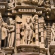 Temples of Khajuraho, famous for their erotic sculptures — Stock Photo #17624619
