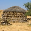 Hut in the desert near Jaisalmer, India - Stock Photo