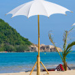 Umbrella on the beach on Koh Phangan, Thailand. — Stock Photo #18661995
