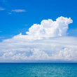 Blue sky and sea — Stock Photo