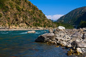 Ganges river in Himalayas mountains. — Stock Photo
