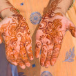 Henna on hands — Stock Photo