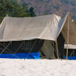 Camp at Ganges river — 图库照片