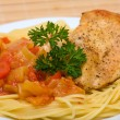 Spaghetti with chicken — Stock Photo #19206251
