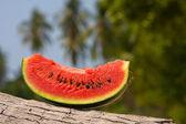 Saftig bit vattenmelon — Stockfoto