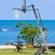 Outdoor basketball net - Stock Photo