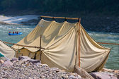Camp at Ganges river . — Stock Photo