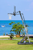 Outdoor basketball net — Stock Photo