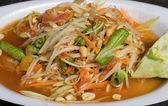 Sałatka z papai gorące i pikantne — Zdjęcie stockowe
