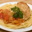 Spaghetti with chicken — Stock Photo #19463097