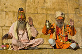 Indian sadhu (holy man) — Foto Stock
