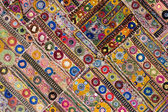 Rajasthani indian patchwork wall cloth — 图库照片