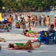 Stock Photo: Beach before full moon party in island Koh Phangan, Thailand