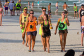 Beach before the full moon party in island Koh Phangan, Thailand — Stockfoto