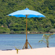 Umbrella on the beach on Koh Phangan, Thailand. — Stock Photo