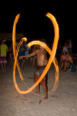 Full moon party in island Koh Phangan, Thailand — Foto de Stock