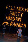 Full moon party in island Koh Phangan, Thailand — Stock fotografie