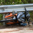 Foto Stock: Motorcycle accident