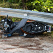 Stock Photo: Motorcycle accident