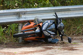 Motorcycle accident — Stockfoto