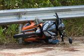 Motorcykelolycka — Stockfoto
