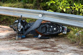 Motorcycle accident — Stock fotografie