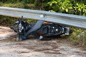 Motorrad-unfall — Stockfoto