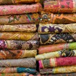 Heap of cloth fabrics — ストック写真