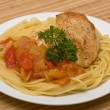 Spaghetti with chicken — Stock Photo #22601267