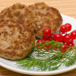 Fried cutlet — Foto de Stock