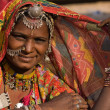 Portrait of IndiRajasthani woman — Stock Photo #22602093