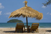 Beach in Sihanoukville, Cambodia . — Stock Photo