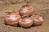 Indian clay pot — Foto Stock
