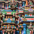 Sculptures on Hindu temple — Stock Photo