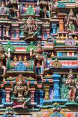 Sculptures on Hindu temple — Stock Photo